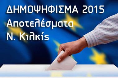 Δημοψήφισμα 2015 - Αποτελέσματα Ν. Κιλκίς