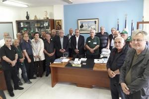 Επίσκεψη Παγκύπριου Συνδέσμου Εθνοφυλάκων στο Δήμαρχο Κιλκίς