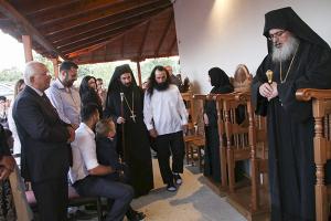 Κουρά μοναχού στη Μονή Αγίου Νεκταρίου