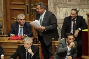 ΣΥΡΙΖΑ: Μουδιασμένοι βουλευτές για τον Π. Καμμένο