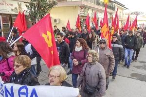Μεγάλη συγκέντρωση και πορεία του ΚΚΕ σε συμπαράσταση της Μ. Αλτιπαρμακίδου