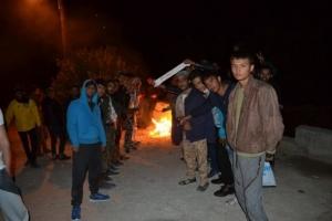 Κινητοποίησεις μεταναστών και προσφύγων στον καταυλισμό της Μόριας