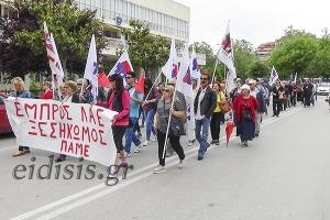 Το ΠΑΜΕ έσωσε στο Κιλκίς την... τιμή της απεργιακής κινητοποίησης