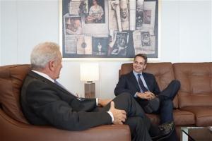 Το κυβερνητικό σχέδιο της ΝΔ παρουσίασε ο Κ. Μητσοτάκης στις Βρυξέλλες