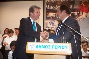 """Αδελφοποίηση """"Αγ. Τρύφωνα¨ Γουμένισσας με """"Ακρίτες Γερίου"""" της Κύπρου"""