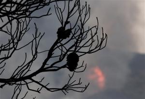 Υπό μερικό έλεγχο η φωτιά στα Δερβενοχώρια, σύμμαχος η βροχή