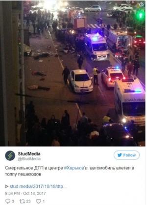 Ουκρανία: Όχημα έπεσε πάνω σε πεζούς - Τουλάχιστον έξι νεκροί