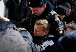 Ρωσία: Συνελήφθη ο Αλεξέι Ναβάλνι σε διαδήλωση κατά της διαφθοράς