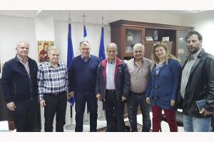 Επίσκεψη εργασίας του βουλευτή Θ. Παραστατίδη στο Δήμαρχο Παιονίας