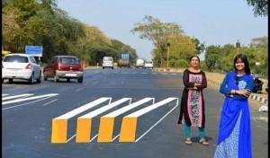 Ινδία: Βάφουν τρισδιάστατες διαβάσεις πεζών για να μειώσουν τα τροχαία