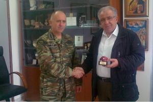 Εθιμοτυπική επίσκεψη του Ταξιάρχου της 71ης στο Δήμαρχο Κιλκίς