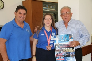 Συγχαρητήρια Δημάρχου Κιλκίς στη χάλκινη ολυμπιονίκη Μαρία Φουλεδάκη